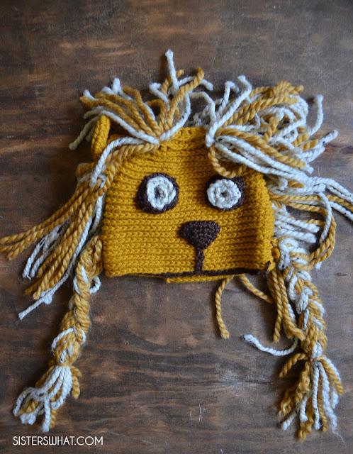 luna lovegood lion hat costume crochet