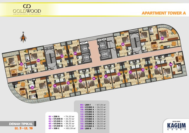 Goldwood Apartemen Condotel Bandung