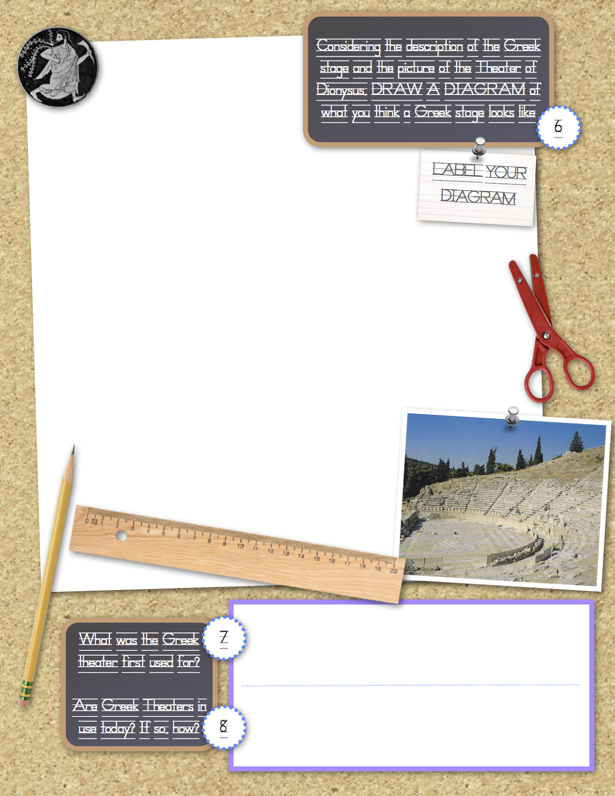 Mr Patton S Classroom Site Greek Theatre Worksheets