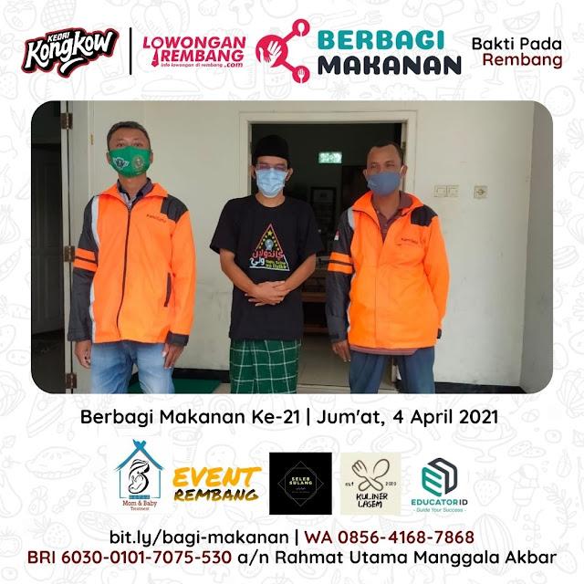Dokumentasi Berbagi Makanan Ke-21 Dari Kedai Kongkow Rembang Dan Lowongan Rembang