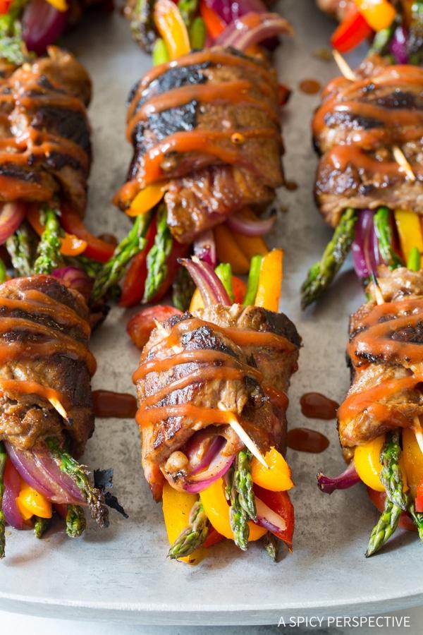 Low Carb Steak Fajita Roll-Ups #dinner #easyrecipe