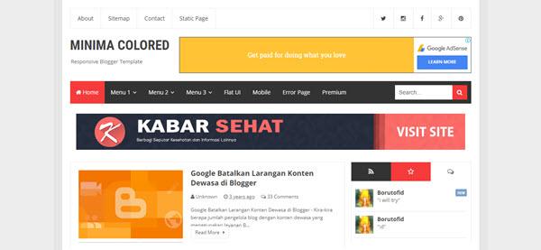 Minima Colored blogger teması, responsive blogger tema, ücretsiz blogger tema,