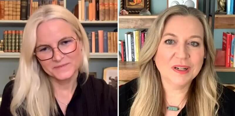 Crown Princess Mette-Marit talked to American author Cheryl Strayed, about the author's book Wild, Tiny Beautiful Things
