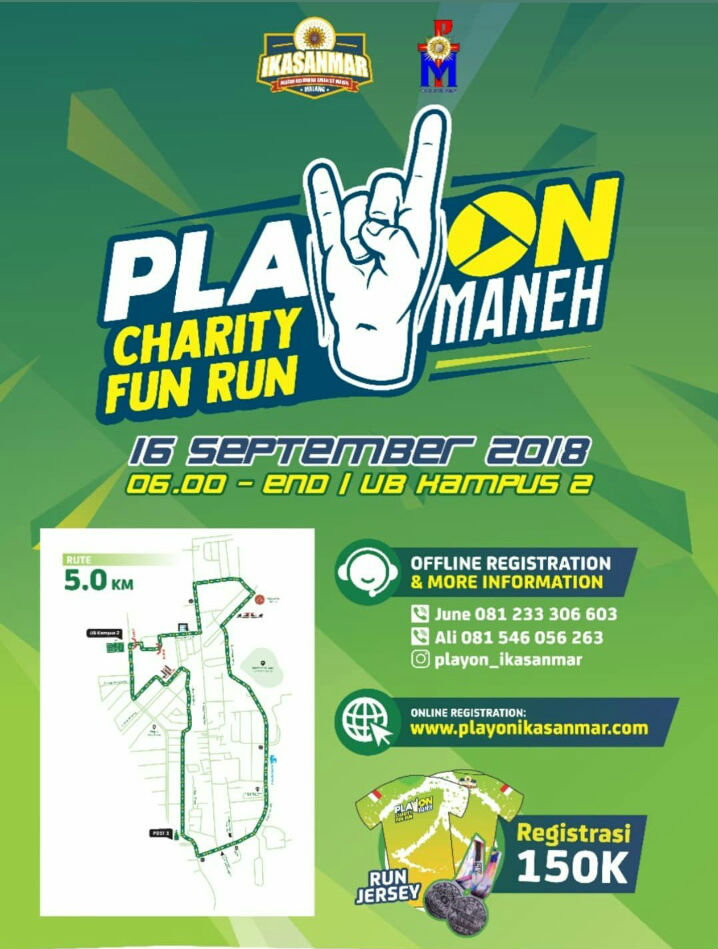 PlayOn Maneh - Charity Fun Run • 2018