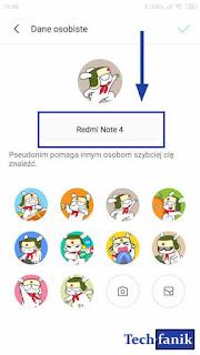 Jak zmienić pseudonim i avatar w aplikacji ShareMe