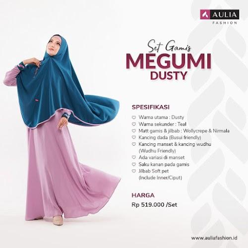 Set Gamis Aulia Megumi Dusty Terbaru