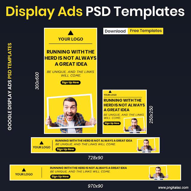 Google Display Ads Free PSD Templates