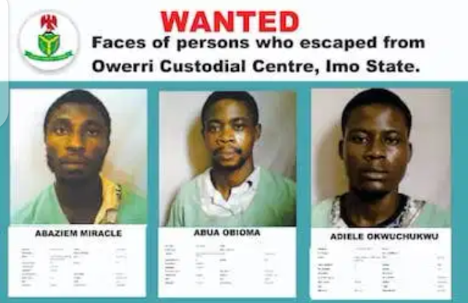 Names, pictures of escaped Owerri prison inmates released
