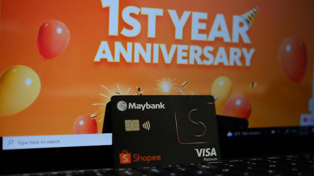 Sempena Ulang Tahun Pertama Maybank Shopee Credit Card. Shopee Tawarkan Baucer RM315 Untuk Pendaftaran Baru