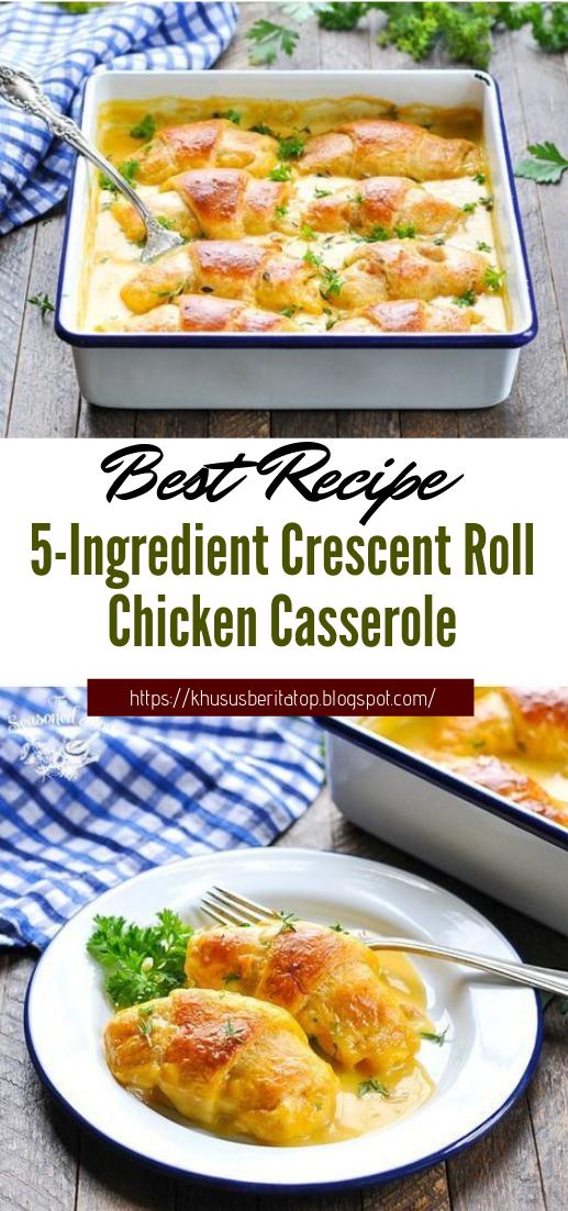 5-Ingredient Crescent Roll Chicken Casserole #dinnerrecipe #food #amazingrecipe