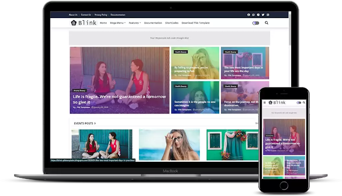 Blink - Colorful & Responsive Blogger Template Download For Free