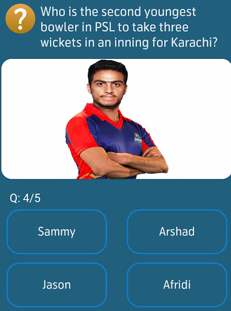 Who is the second youngest bowler in PSL to take three wickets in an inning for Karachi?