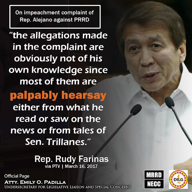 Rep. Rudy Farinas: 'Allegations in the impeachment complaint are just hearsay'