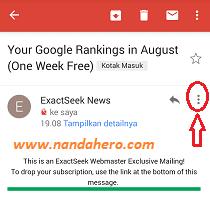 Cara Menghentikan Email Masuk di Gmail lewat HP