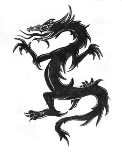 Tattoos Dragon Tattoo Stencils 4