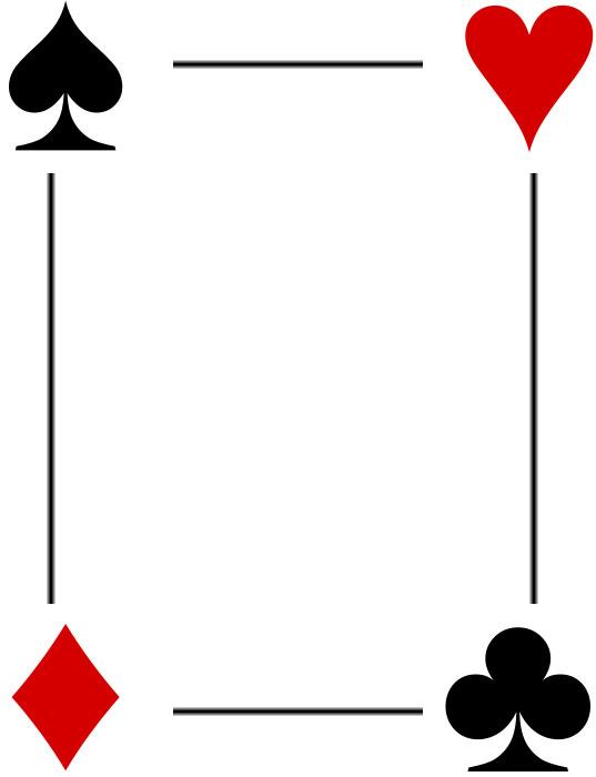 Bordes Decorativos Bordes Decorativos De Cartas De Poker Dibujos