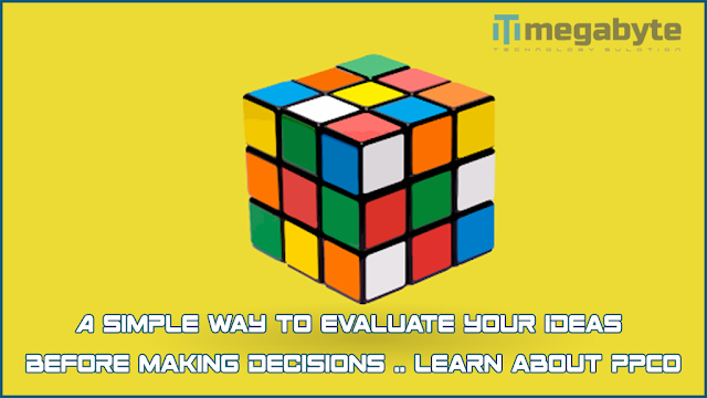 A simple way to evaluate your ideas before making decisions .. Learn about PPCO