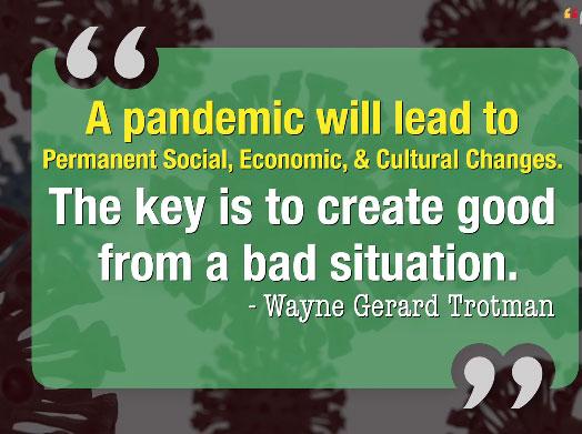 Panedemic Coronavirus Quote