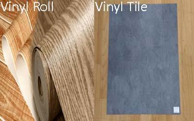 vinyl roll dan vinyl tile