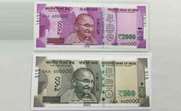 New 500 And 2,000 Rupee Notes That Will Be Issued Says RBI