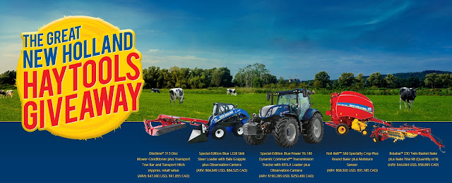 Farmers can enter to win their share of almost half a million dollars in prizes being offered by New Holland to celebrate North American hay producers!
