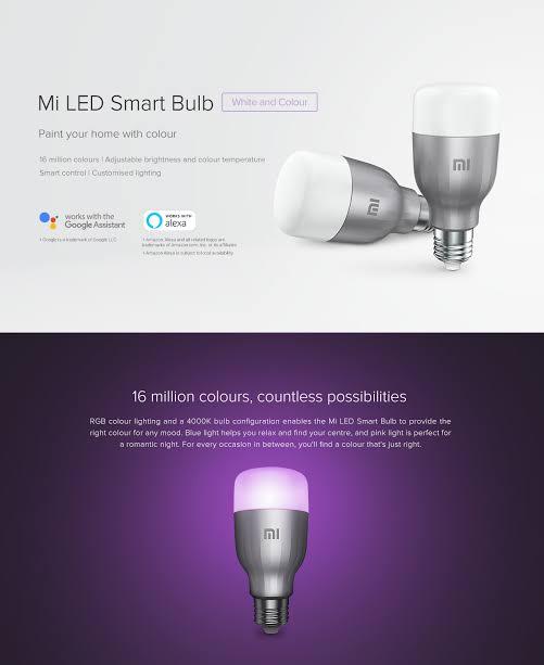 Mi smart bulb details