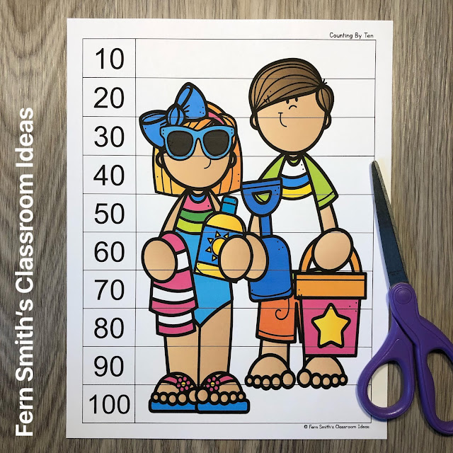 Click Here to Download These Beach Fun Counting Puzzles For Your Boys and Girls Today!