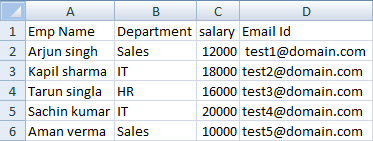 Bind and Export GridView data to CSV file in asp net(C#, VB