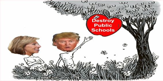 Image result for big education ape devos trump