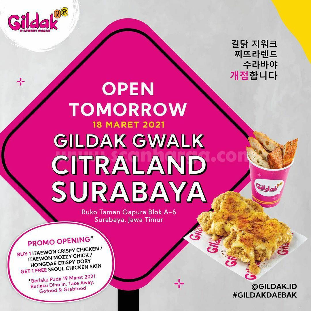 GILDAK Citraland Surabaya Opening Promo Beli 1 Gratis 1