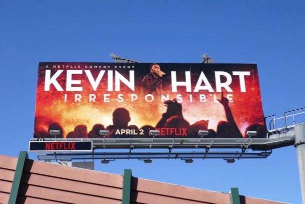 Kevin Hart Irresponsible Netflix special billboard