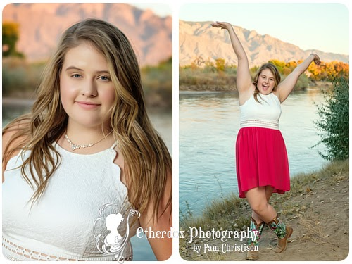 professional photo of a high school senior Rio Rancho