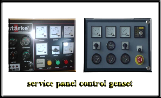 melayani service dan werrin panel control genset