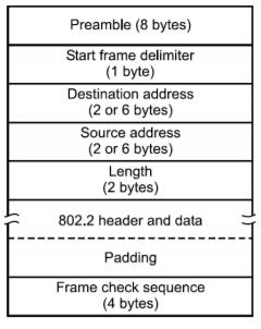 802.3 Ethernet frame format: