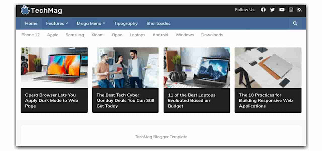 Responsive SEO Friendly Blogger Templates