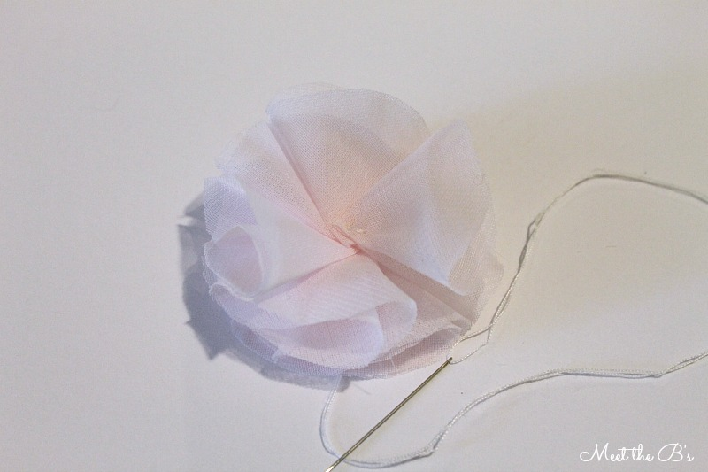 Wedding Wednesday- How to make chiffon flowers