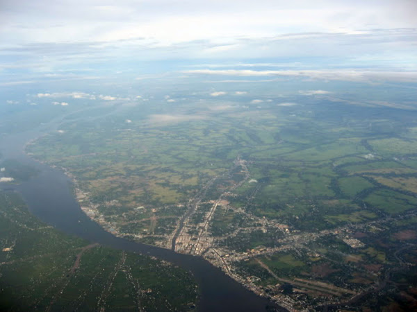 Vista aerea de la ciudad de Can Tho (Delta del Mekong, Vietnam)