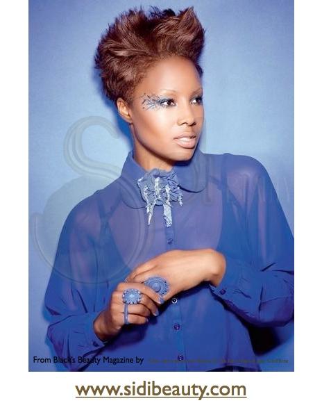 alisado afro con color