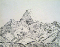 sketches sketch mountains mountain mt easy simple ama draw cool dablam drawing geology cliffs prem tattoo