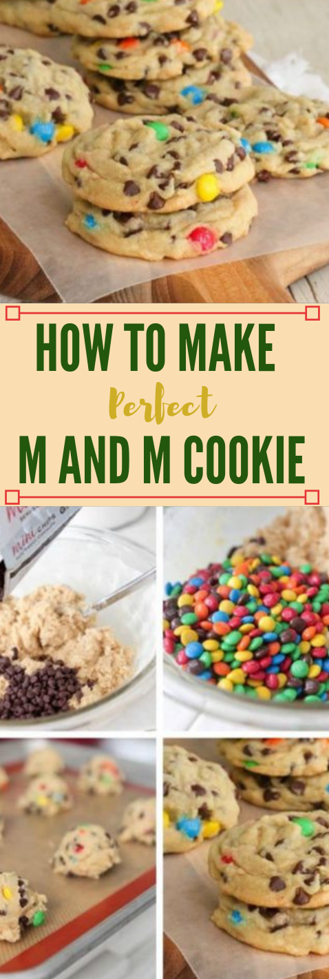 How To Make Perfect M and M Cookies #desserts #cookie #pumpkin #cakes #easy