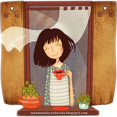cafezinho na janela