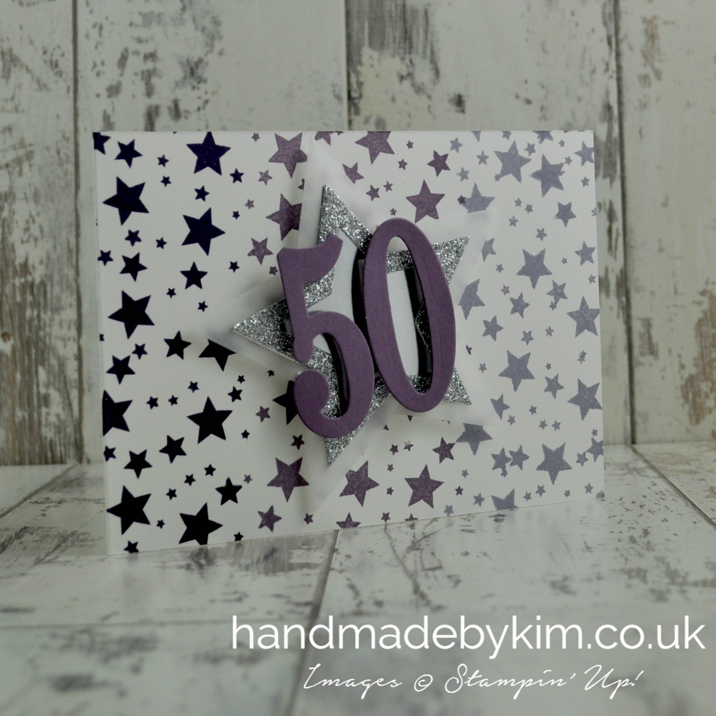 50th Birthday Card Using Stampin Up Products