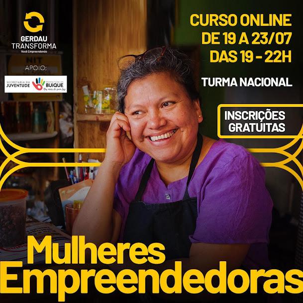 De 19 a 23 de Julho, Prefeitura de Buíque, através da Sec. Juventude promove curso para formação de mulheres empreendedoras