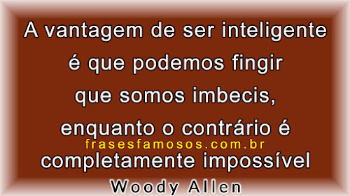 Texto de Woody Allen sobre ser inteligente