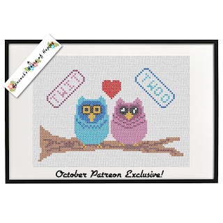 cute owl cross stitch pattern