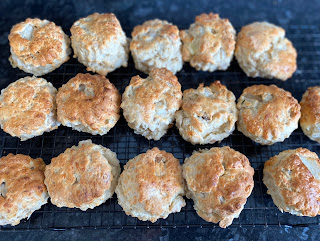 Pear, Walnut, Goats Cheese Scones