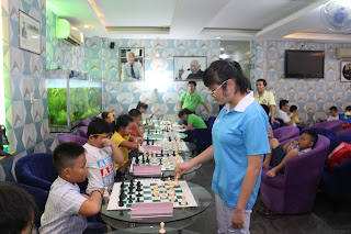 dạy cờ vua hồ chí minh