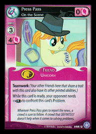My Little Pony Press Pass, On the Scene The Crystal Games CCG Card
