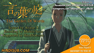 The Garden Of Words Movie HINDI SUB TpxAnime