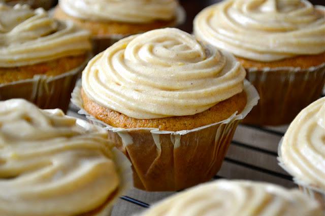 Pumpkin Carrot Cupcakes  | www.motherthyme.com